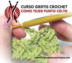 Crochet y Dos agujas: CURSO GRATIS CROCHET: Punto Celta paso a paso ༺✿ƬⱤღ✿༻ Crochet Stitches Patterns, Knitting Stitches, Stitch Patterns, Crochet Blouse, Knit Crochet, Ravelry Crochet, Crochet Necklace, Diy Crafts, Chopsticks
