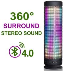 Inarock 10w Wireless Portable Bluetooth 4 0 Dsp Speaker With Dazzle Led Light Ful Sound Dream Waterproof