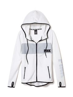IF VS RETURNS TO BEING CRUELTY FREE AND STOPS SELLING IN CHINA I'D PURCHASE THIS. Reflective Full-Zip Fleece Hoodie - PINK - Victoria's Secret