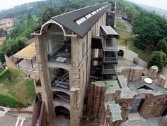 It's very Escher - you're not sure if you're awake or having one of 'those' dreams Adaptive Reuse, Rammed Earth, Turin, Log Homes, Land Scape, Restoration, Fine Art, Refurbishment, House Styles