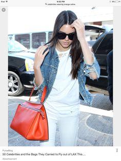 e2d339f7498e Stylish Handbags, Best Handbags, Channel Bags, Orange Handbag, Chanel Purse,  Kendall