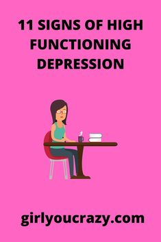 Do you have low energy, are quick to anger, or hardly feel joy? You might have high functioning depression. Mental Health Conditions, Mental Health Issues, Mental Health Awareness, Signs Of Depression, Living With Depression, Types Of Anxiety Disorders, Generalized Anxiety Disorder