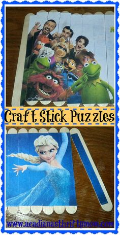 Craft or Popsicle Stick Puzzles We had a blast making these Craft/popsicle stick puzzles!  We were recently looking at puzzles in the store to buy for the kids and I was very surprised to se...