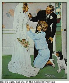 Final touches for the bride ~ Norman Rockwell