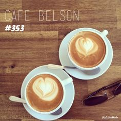 Every day ending in Y is a good day for a coffee. So this morning we headed to the regal looking cafe on Brunswick Street, Cafe Belson, in search of caffeine and anywhere cooler than. Brunswick Street, Brisbane, Latte, Day, Food, Cafes, Coffee Milk, Hoods, Latte Macchiato