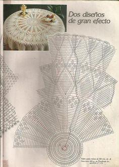 Diagram Crochet Doily Patterns With Crochet Table Topper, Crochet Tablecloth Pattern, Free Crochet Doily Patterns, Crochet Doily Diagram, Crochet Bedspread, Crochet Table Runner, Crochet Chart, Thread Crochet, Filet Crochet