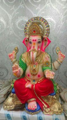 Lord Ganesha Jai Ganesh, Ganesh Idol, Ganesh Statue, Shree Ganesh, Lord Ganesha, Lord Shiva, Om Gam Ganapataye Namaha, Radha Krishna Wallpaper, Ganpati Bappa