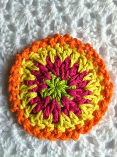 """Lakeview Cottage Kids: FREE Pattern for """"Oh So Colorful Summer Coasters"""""""