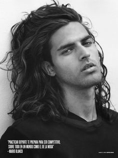 Bruce Weber knows a thing or two about male beauty, so when he champions a model you know they are the real deal. In the new V Magazine Spain, Weber focuses on two paragons of the physical ideal, Mario Blanco  Wil Alemán, both of whom smolder in his crisp black and white photographs. Sporting long curly hair and come-hither stares, Wil  Mario represent that most irresistible incarnation of masculine allure, the young Apollo. Mythology comparisons aside, is it any wonder that both these boys ha