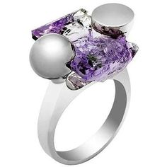 Let this one piece wonder work its magic on you. #amethyst #amethyst ring #amethyst jewelry #amethyst jewellery #contemporary jewelry #contemporary design #contemporary ring #statement ring #cocktail ring #unique ring #unique gemstone ring #unique modern ring Amethyst Jewelry, Amethyst Gemstone, Gemstone Jewelry, Amethyst Rings, Purple Jewelry, Contemporary Jewellery, Modern Jewelry, Contemporary Design, Purple Quartz