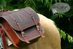 Saddle Bag by Two Feathers Leathercraft