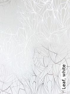 Tapete: Leaf, white - TapetenAgentur