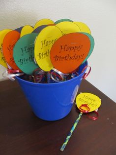 """Easy Classroom Birthday """"Presents""""  Could use it for invites or instead of pencils, use suckers"""