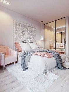 idee deco chambre avec frise en forme de mandala au dessus du lit
