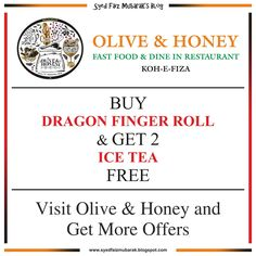 Olive & Honey Fast Food & Dine In Restaurant, Koh-e-Fiza, Bhopal gives ultimate and super savings Food Offers - Visit Us Soon