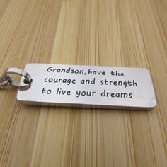 Grandson, Have the Courage and Strength to Live Your Dreams - Necklace