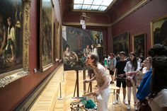 Ivan Guilbert photographed the copyists in Paris who set up easels and try their hand at replicating the paintings inside the Louvre.