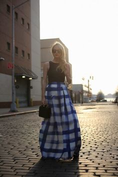 DIY Painted Gingham Maxi. I wouldn't do gingham, I'm not much a fan, but it gives me ideas...