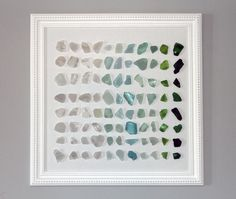 Fun way to display my sea glass I've collected over the years.