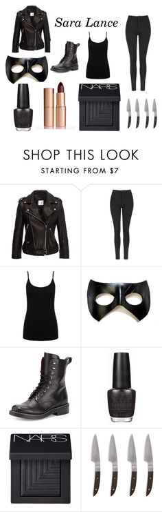 """""""Sara Lance"""" by thompame on Polyvore featuring Topshop, M&Co, rag & bone, OPI, NARS Cosmetics, Charlotte Tilbury, women's clothing, women, female and woman"""