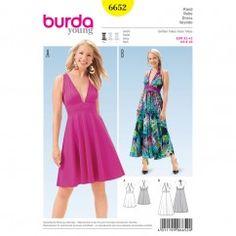 BURDA - 6652 Ladies Dress
