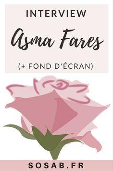 Asma Fares interview avec un fond d'écran