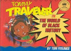In comic form, an African American young man is transported to the past while reading about his heroes.