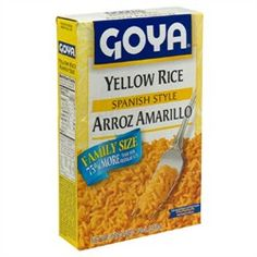 Yellow rice, spanish style. (Arroz amarillo) (Keywords: Goya, Arroz, Rice, Yellow Rice, Spanish Style, Cooking, Mexican Food, Quick Meal, Healthy)