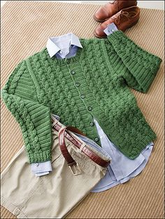 Ravelry: Cabled Jacket pattern by Treva McCain