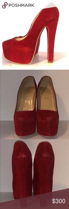 7b309cc4e243d8 Shop Women s Christian Louboutin Red size 8 Platforms at a discounted price  at Poshmark.