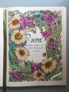 Colorindo mês de Junho. 🌺🌱 #thefloweryear #leiladuly