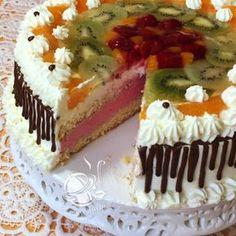 CO MI W DUSZY GRA: TORT ŚMIETANOWY OWOCOWY Z MASĄ MALINOWĄ Tiramisu, Cheesecake, Birthday Cake, Fruit, Ethnic Recipes, Gra, Food, Diet, Pies