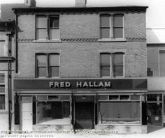 Fred Hallam, 23 High Road, Beeston, c 1960 - still thriving today. Local History, Family History, Nottingham City, High Road, History Photos, Derbyshire, Historical Photos, Old Photos, Ww2