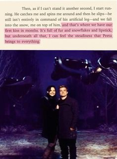 """""""...I can feel the steadiness that Peeta brings to everything."""""""