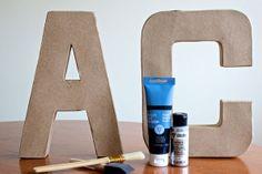 Weekend Project! DIY Metallic Wall Letters. #SelfMagazine