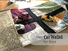It's Our Pinteresting Life: Homemade Car Wallet for Boys