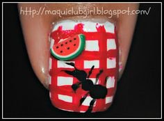 MAQUICLUB GIRL: SUMMER CHALLENGE DAY 21: Picnic Nails