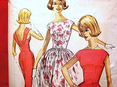 McCall's 1960s Rockabilly Dress Pattern by PatternsFromThePast, $18.50