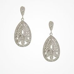 Vintage-inspired pave set crystal drop earrings   Cosmopolitan earrings   Ivory and Co