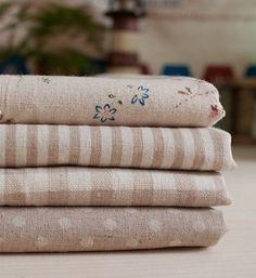 """Coton lin tissu chiffon-DIY tissu Art manuel chiffon-série brune 4 morceaux de 13 x 9 pouces """"chaque"""