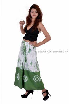 b955d9b36ce4 Indian Women Cum Dress Combo of Tie and Dye Green With Black Skirt IWUS  3032GR