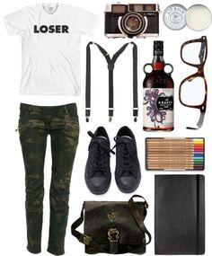 """loser"" by princessgeek86 ❤ liked on Polyvore"