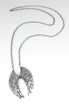 Renee Sheppard SS Pave Diamond Angel Wings Necklace  $2,640  The Porcupine  843-785-2779