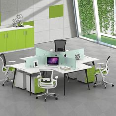 simple modular office furniture melamine pannel t shape office