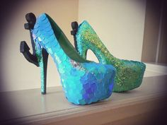 Hey, I found this really awesome Etsy listing at https://www.etsy.com/listing/188898584/crystal-mermaid-island-anchor-pumps