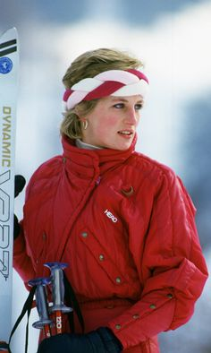 The sporty royal accessorized her Head ski jacket with a stylish braided headband during a skiing trip in Switzerland in 1986. (Photo by Tim Graham/Getty Images