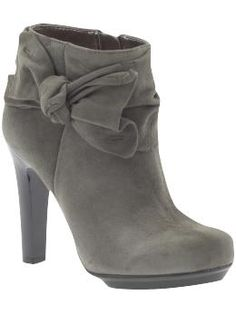 Grey Bow Booties!