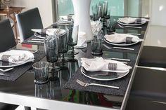 27 Modern Dining Table Setting Ideas | Dining room table, Dark ...