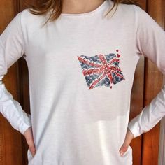 "Transfert textile thermocollant ""Union Jack"" de chez ""Made for You"""