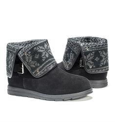 Look what I found on #zulily! Black Fair Isle Jess Boot - Women #zulilyfinds